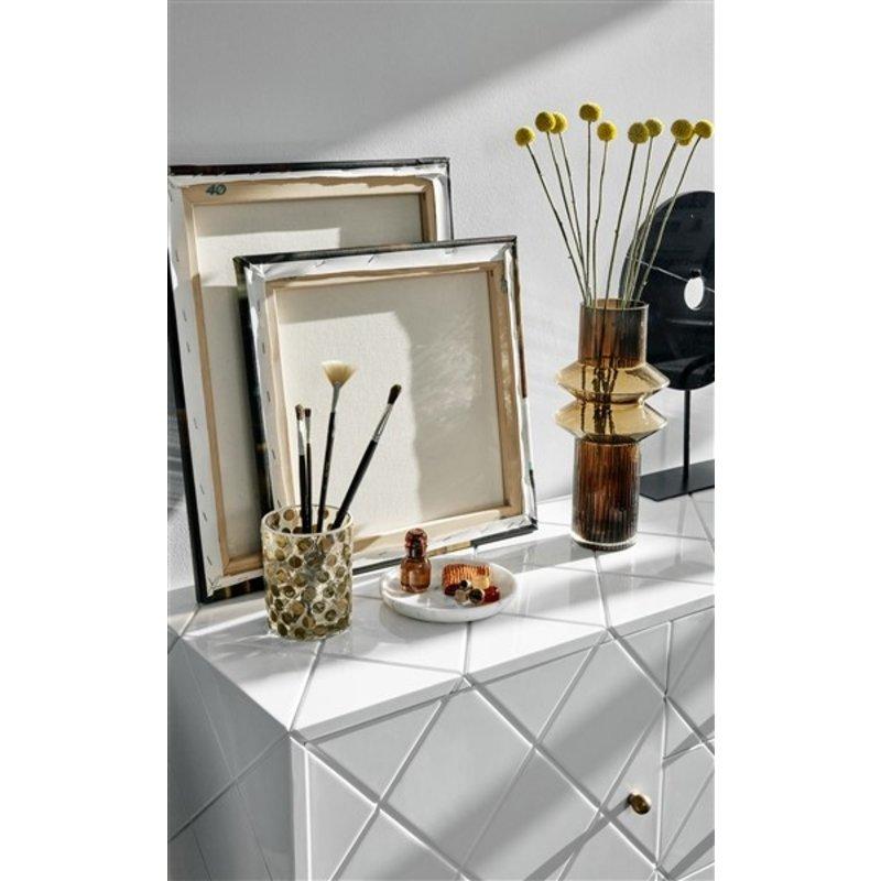 Nordal-collectie Vaas RILLA amber 32cm