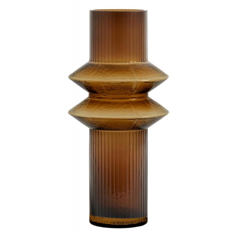 Nordal-collectie RILLA vase, Amber col., M
