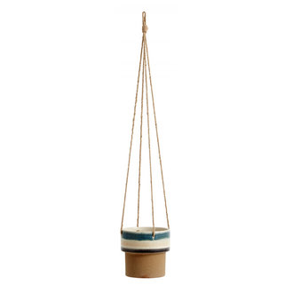 Nordal POT, hanging, blue/multi color