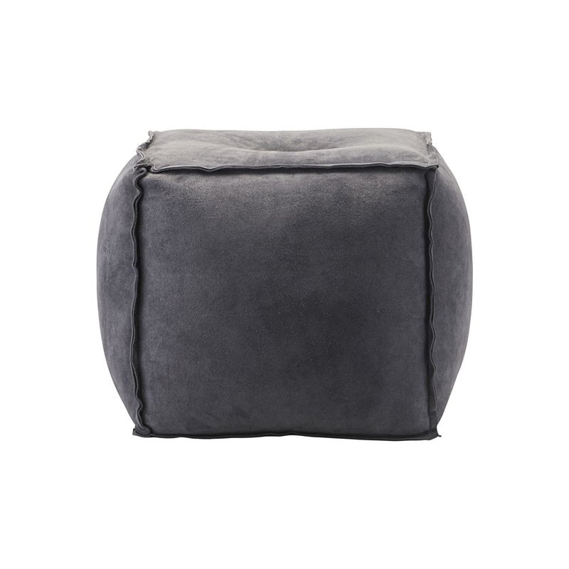 House Doctor-collectie Poef Suede grey blue 40x40x40
