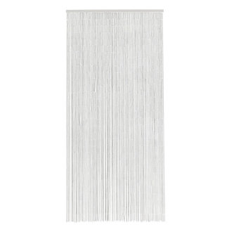 Nordal Bamboo curtain w. 90 strings, white