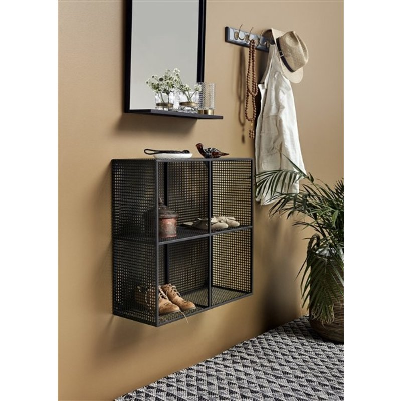 Nordal-collectie WIRE box, 4 shelves, black,