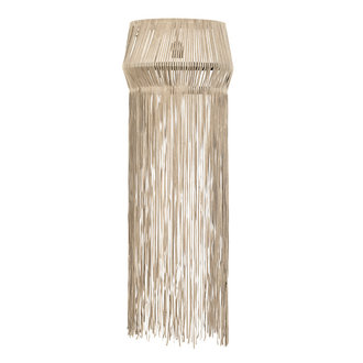 Nordal Wall lamp w/leather fringes, beige