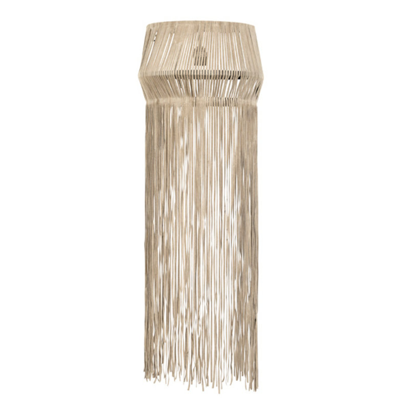 Nordal-collectie Wall lamp w/leather fringes, beige