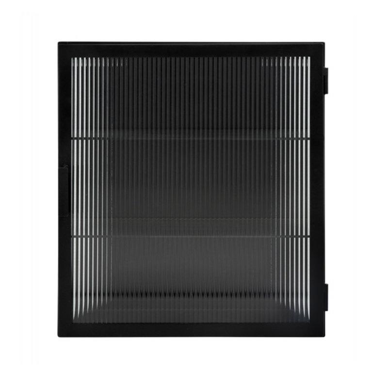 Nordal-collectie Wandkast metaal zwart - groovy glas