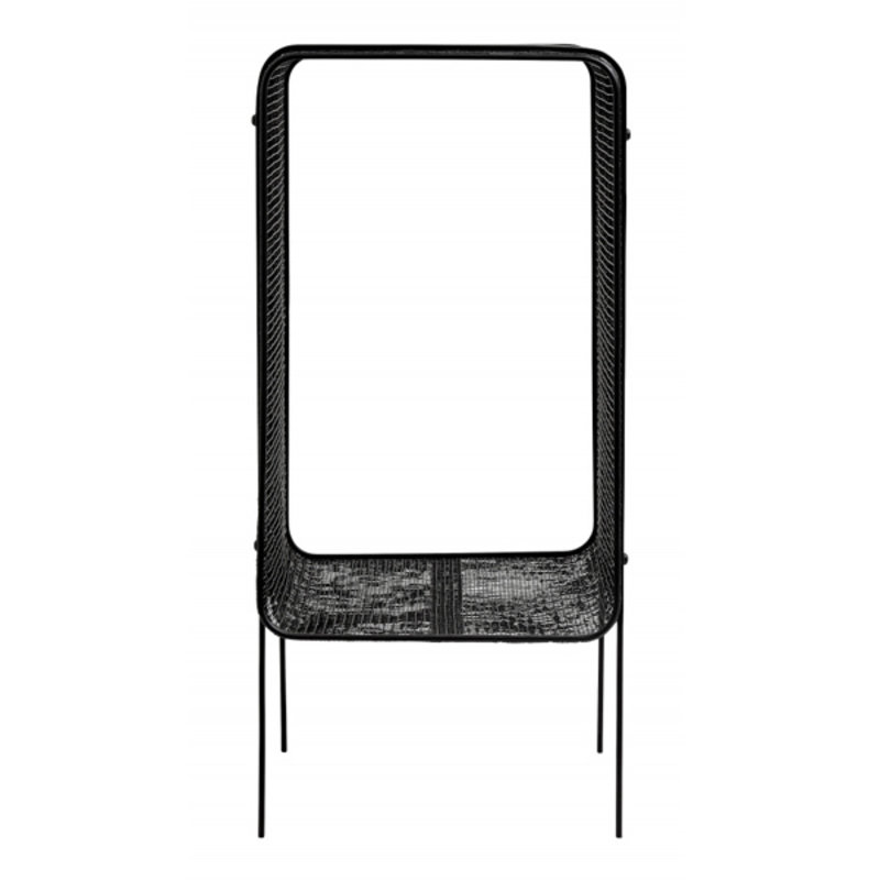 Nordal-collectie Iron side table, high, black