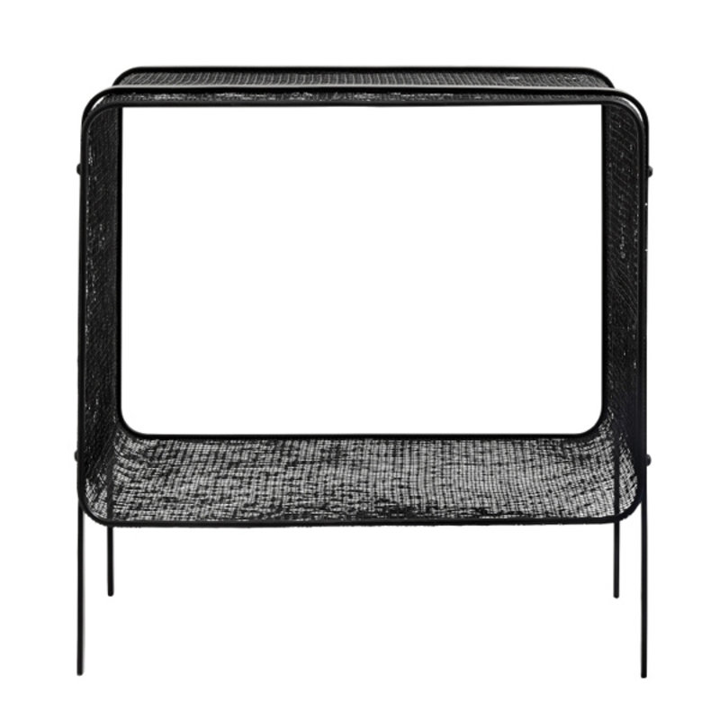 Nordal-collectie Iron side table, low, black