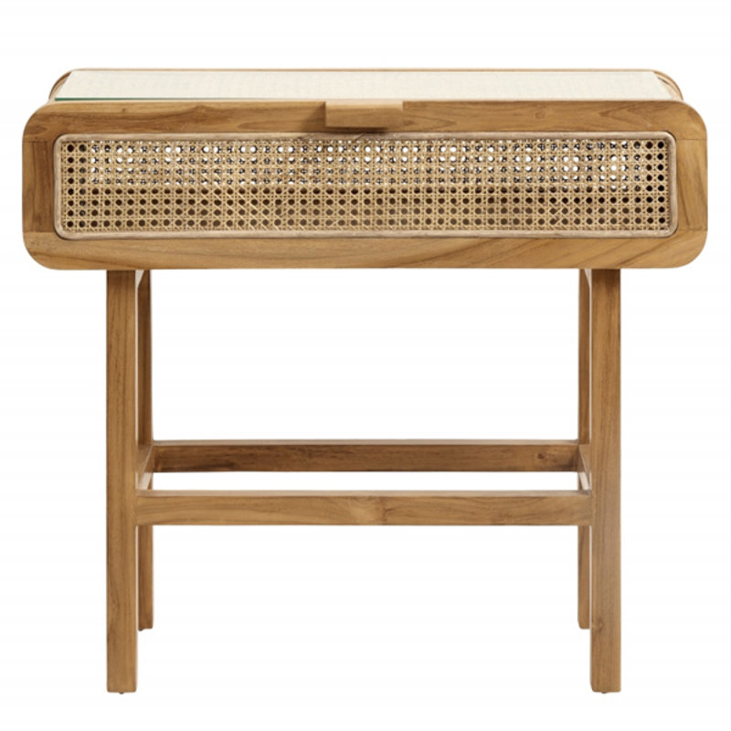Nordal-collectie Console, teak w/open mesh weaving