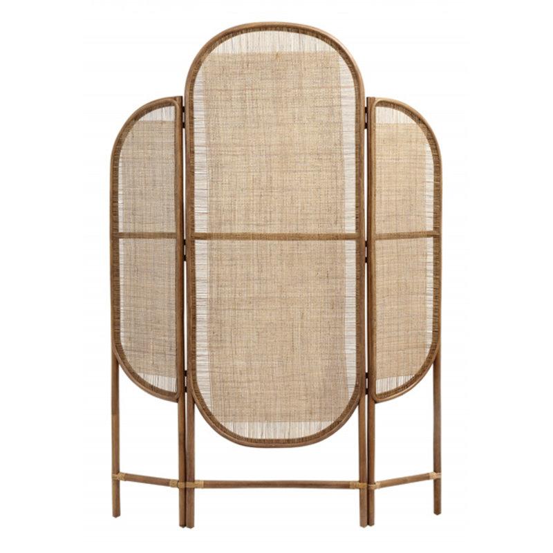 Nordal-collectie Rattan kamerscherm mesh weaving