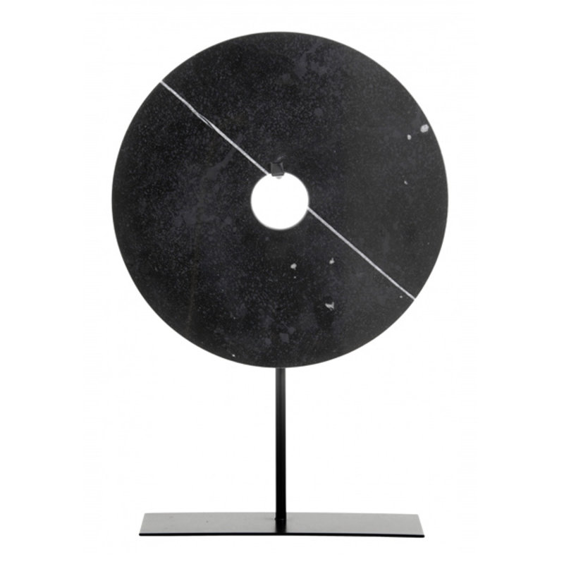Nordal-collectie Marble stand deco, black