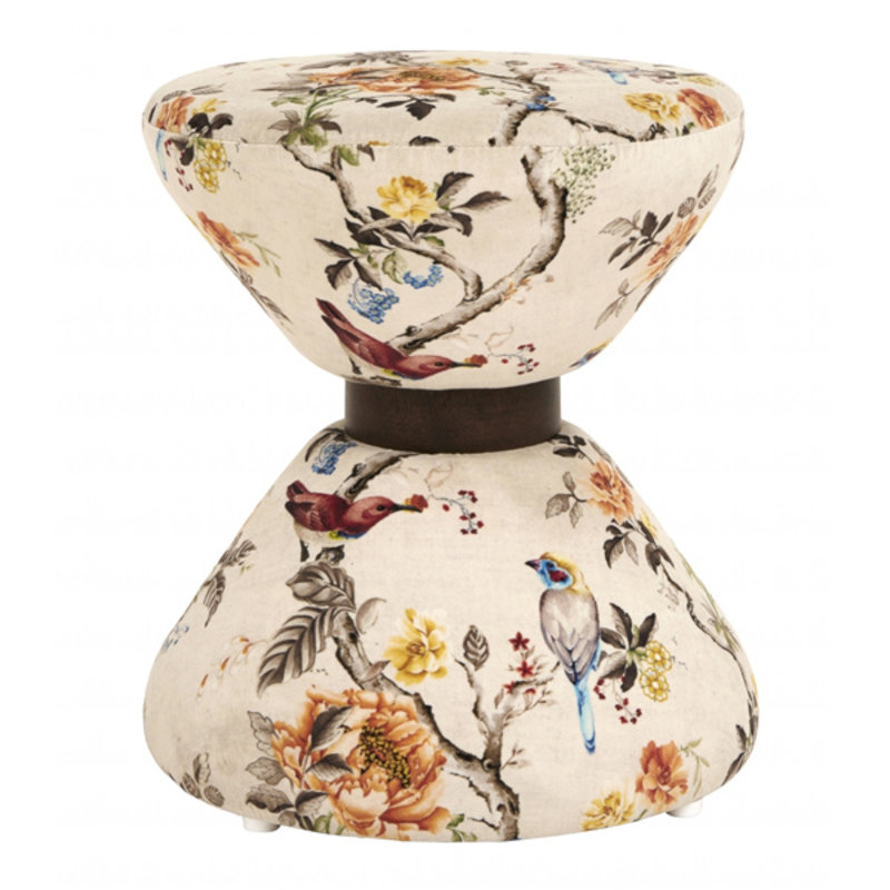 Nordal-collectie PARADISE stool, hourglass shape off w.