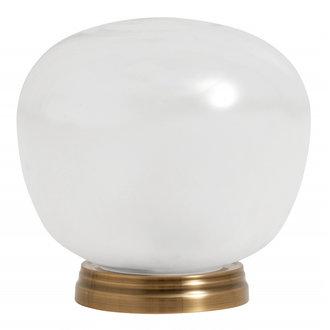 Nordal Tafellamp wit glad - gouden voet