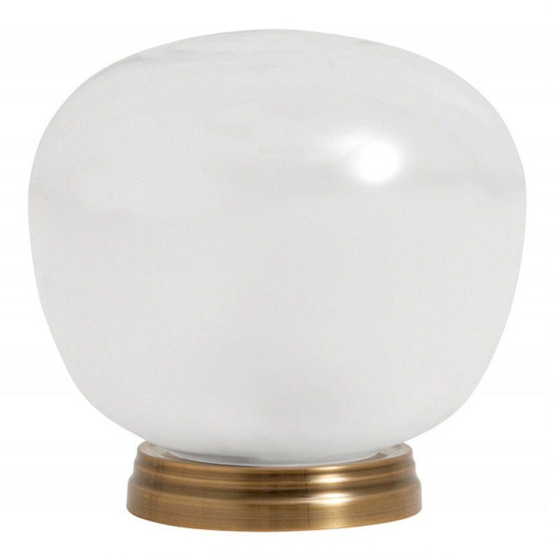 Nordal-collectie Table lamp, glass, color white