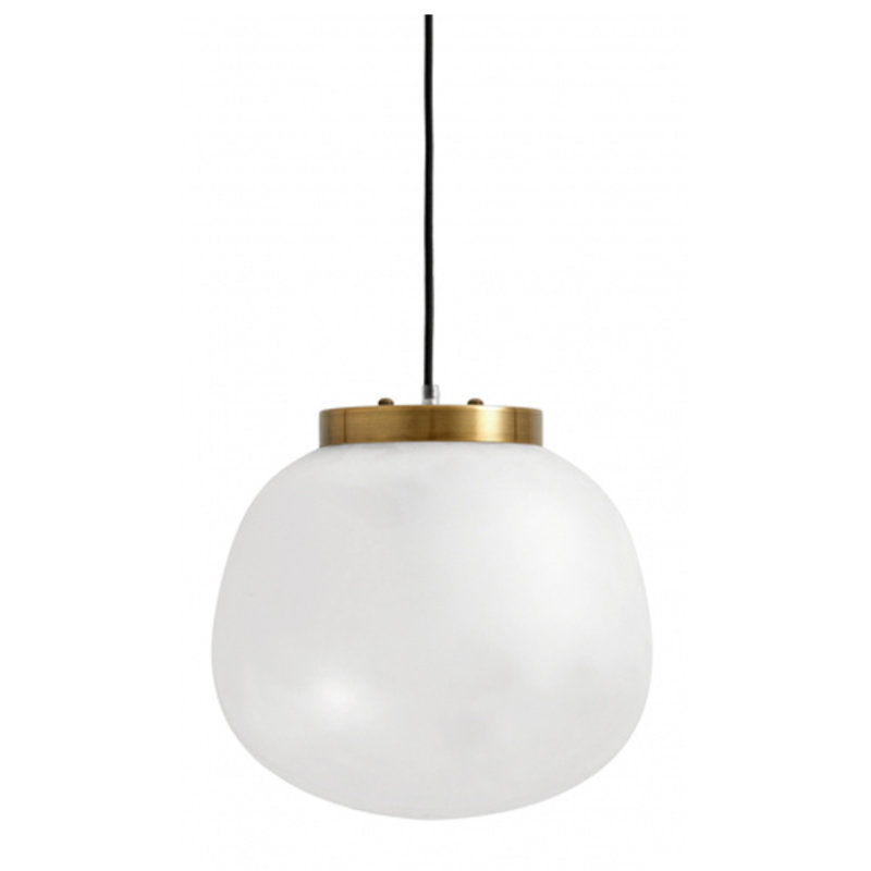 Nordal-collectie Pendant lamp, glass, S, color white