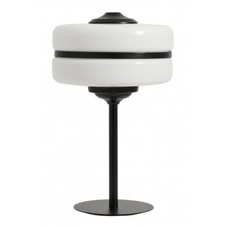 Nordal Table stander lamp, glass w. black iron