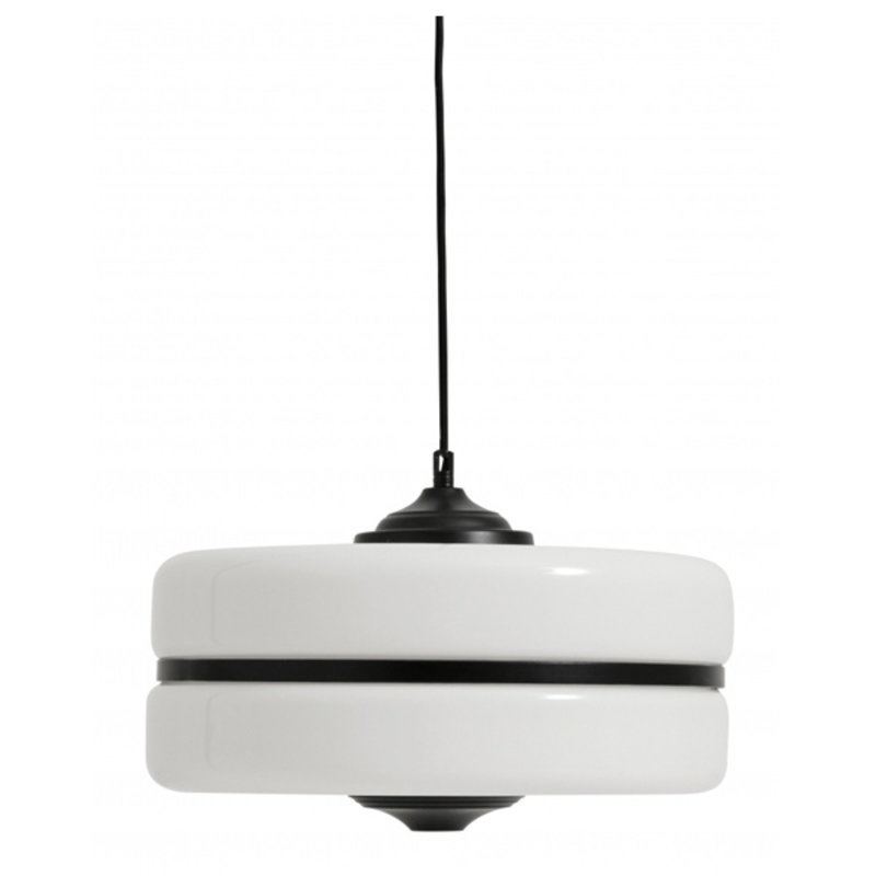 Nordal-collectie Hanging lamp, glass w. black iron