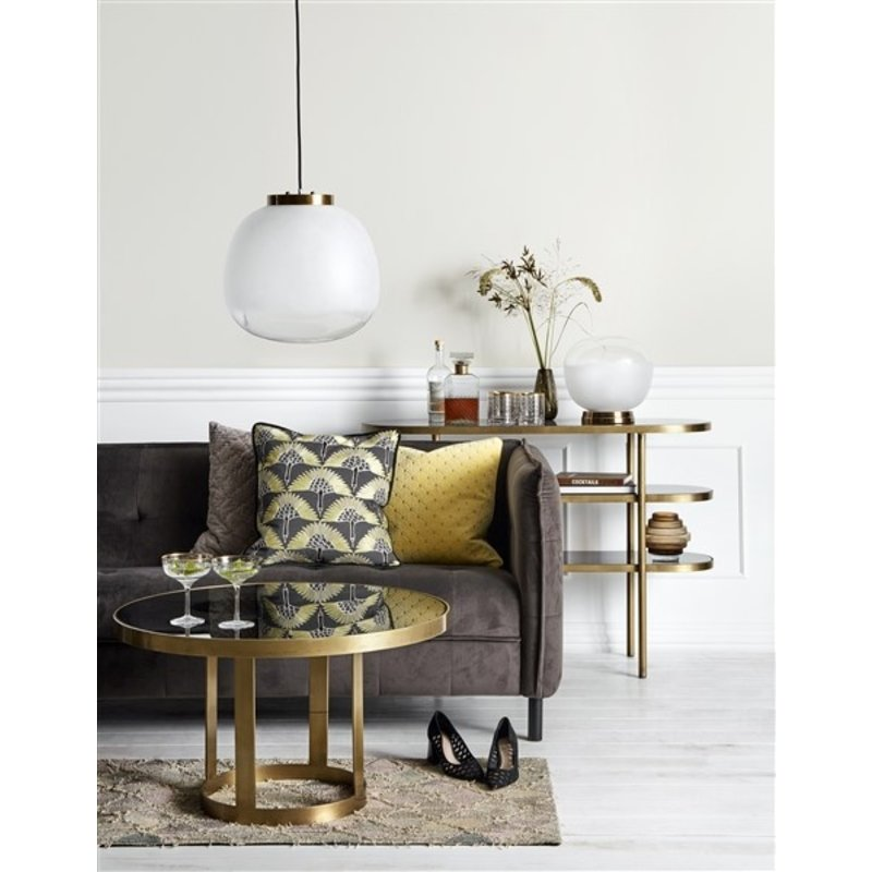 Nordal-collectie Oval console table, golden/black glass