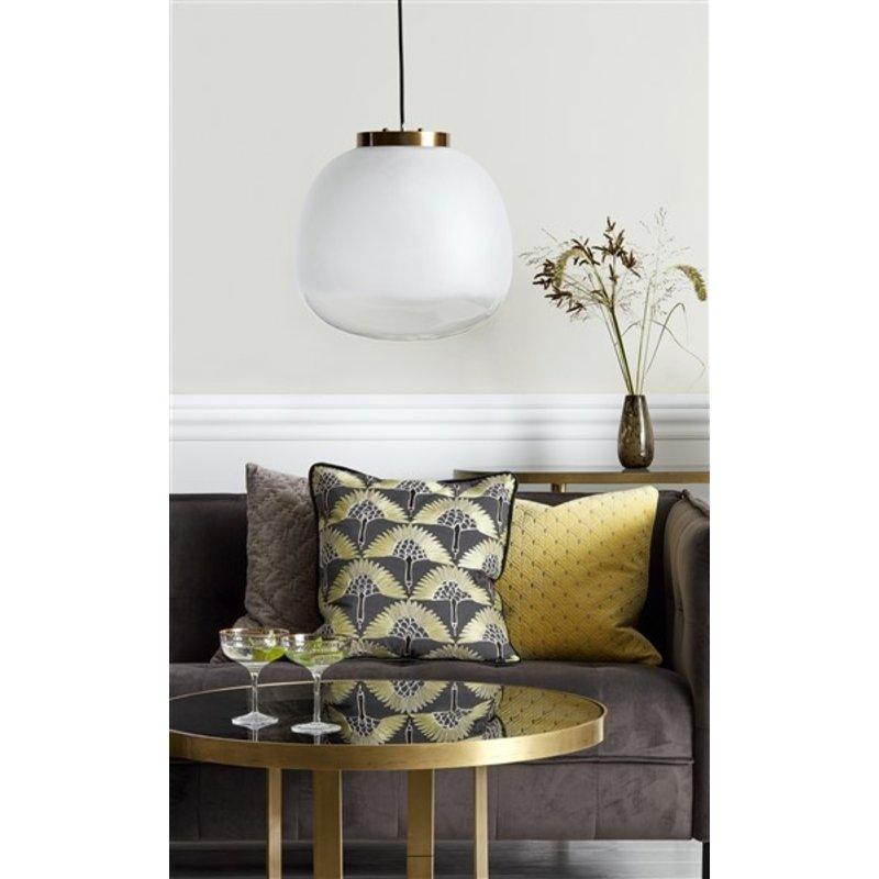Nordal-collectie Nordal Ronde console tafel goud - zwart glas