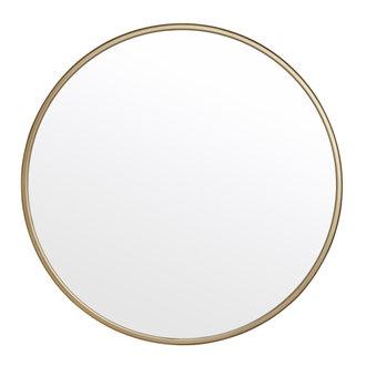 Nordal Grote ronde spiegel goud 80cm
