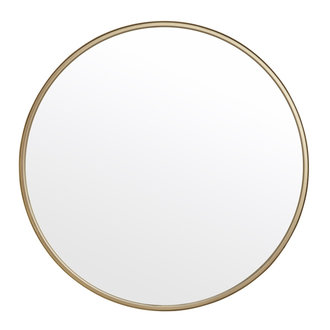 Nordal Round mirror, iron, gold