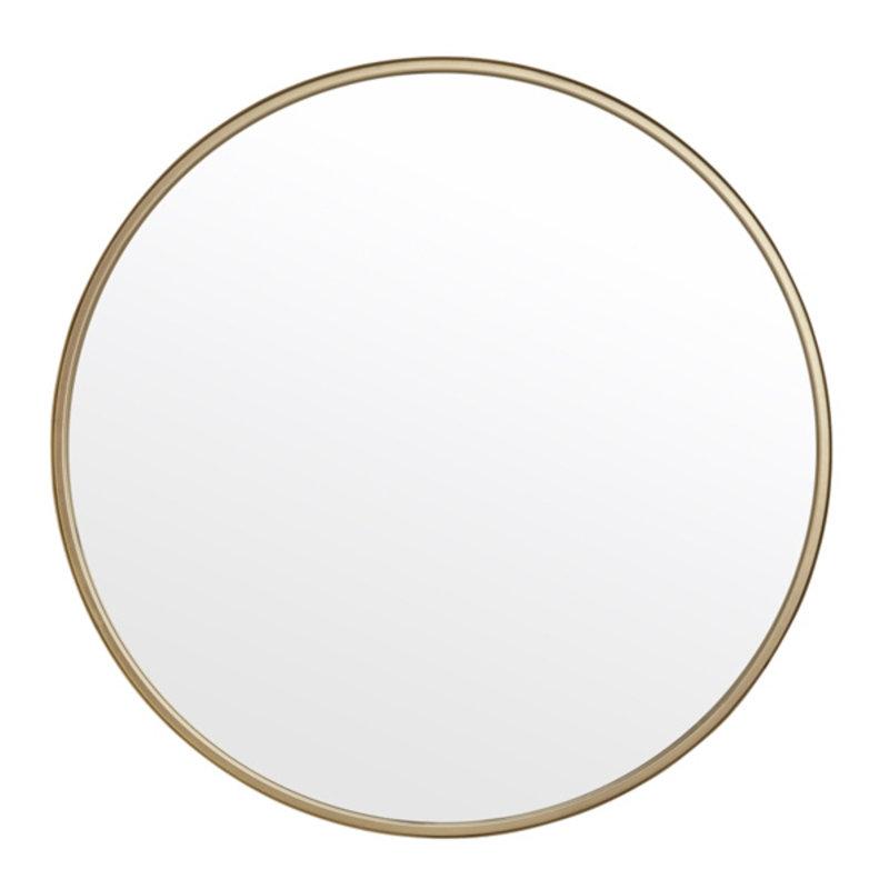 Nordal-collectie Grote ronde spiegel goud 80cm