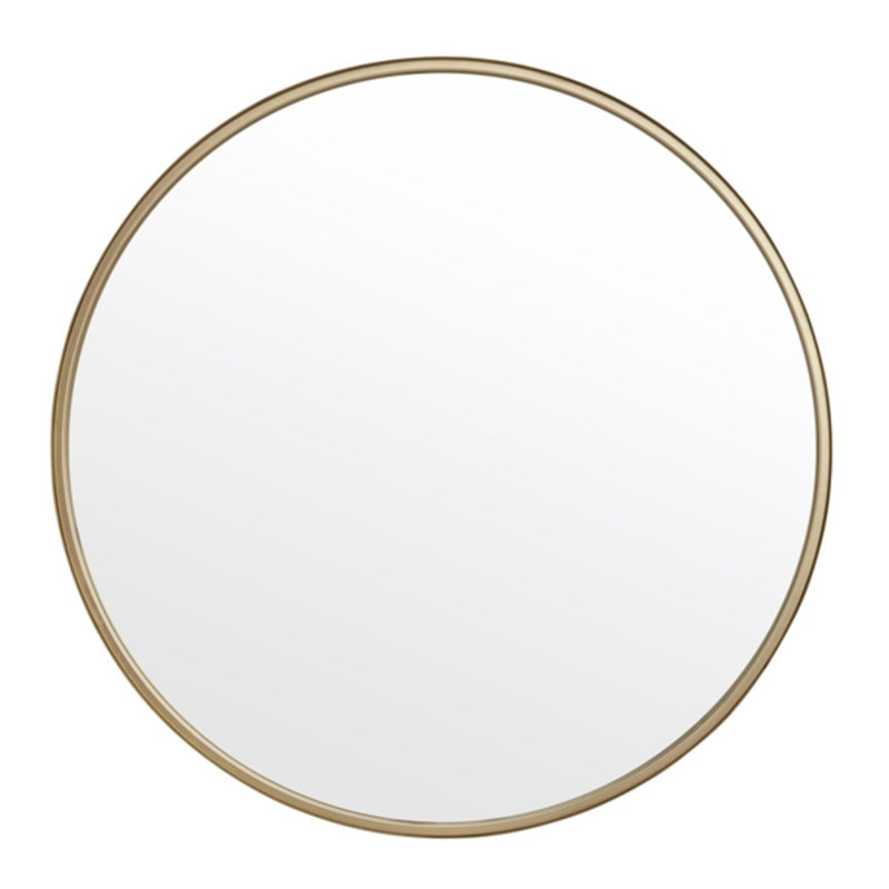 Nordal-collectie Round mirror, iron, gold