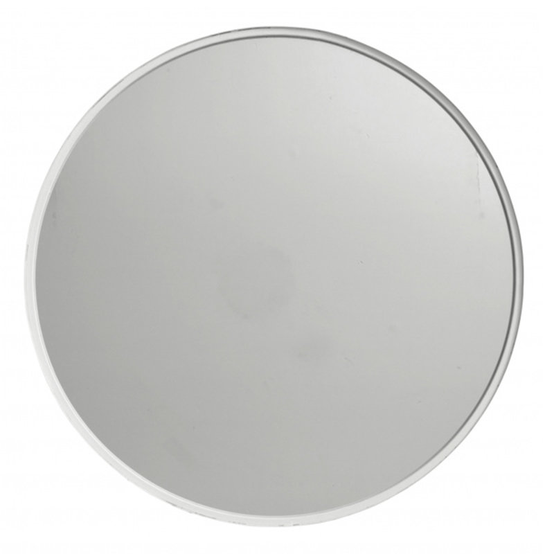 Nordal-collectie Round mirror, iron, white