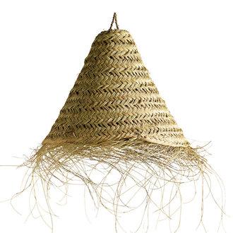 Tine K Home Gevlochten lampenkap palmbladeren - maat M