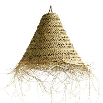 Tine K Home Lamp shade in woven palmleaves with fringes, - size M
