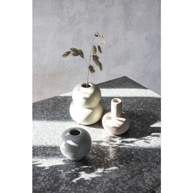 House Doctor-collectie Vase, Mini Bobbles, Grey/Light green