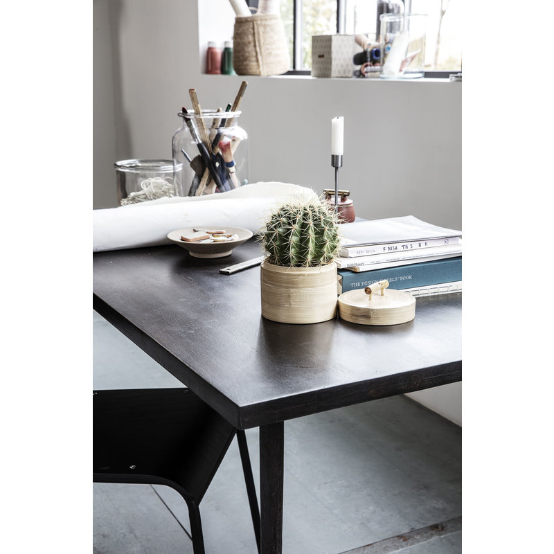 House Doctor-collectie Dining table, Slated, Black