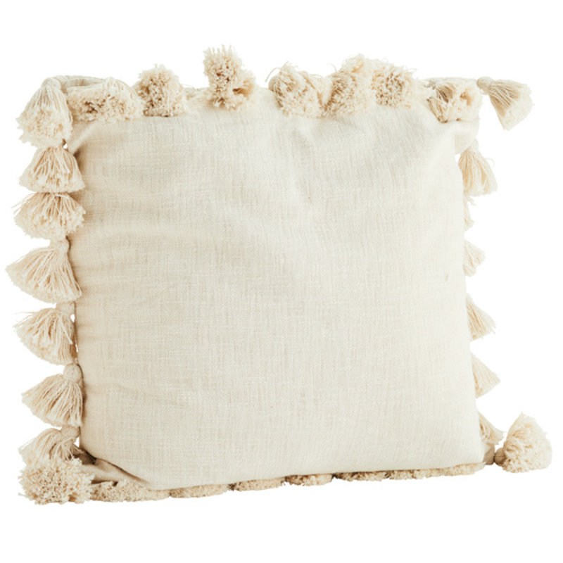 Madam Stoltz-collectie Cushion cover w/ tassels - Copy