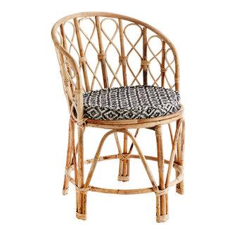Madam Stoltz Bamboo chair w/ chair pad