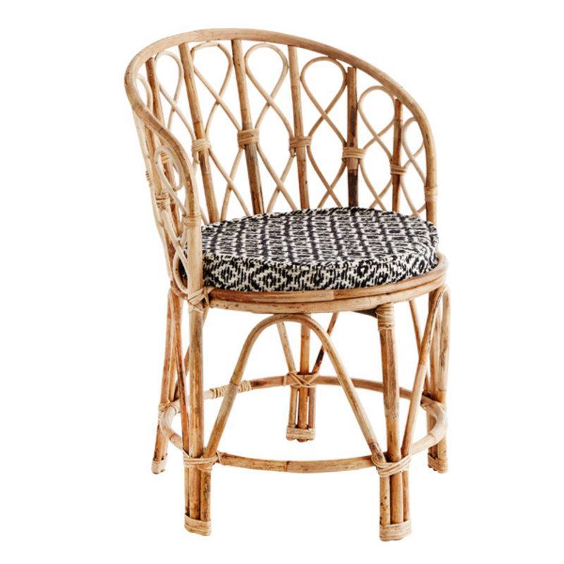 Madam Stoltz-collectie Bamboo chair w/ chair pad