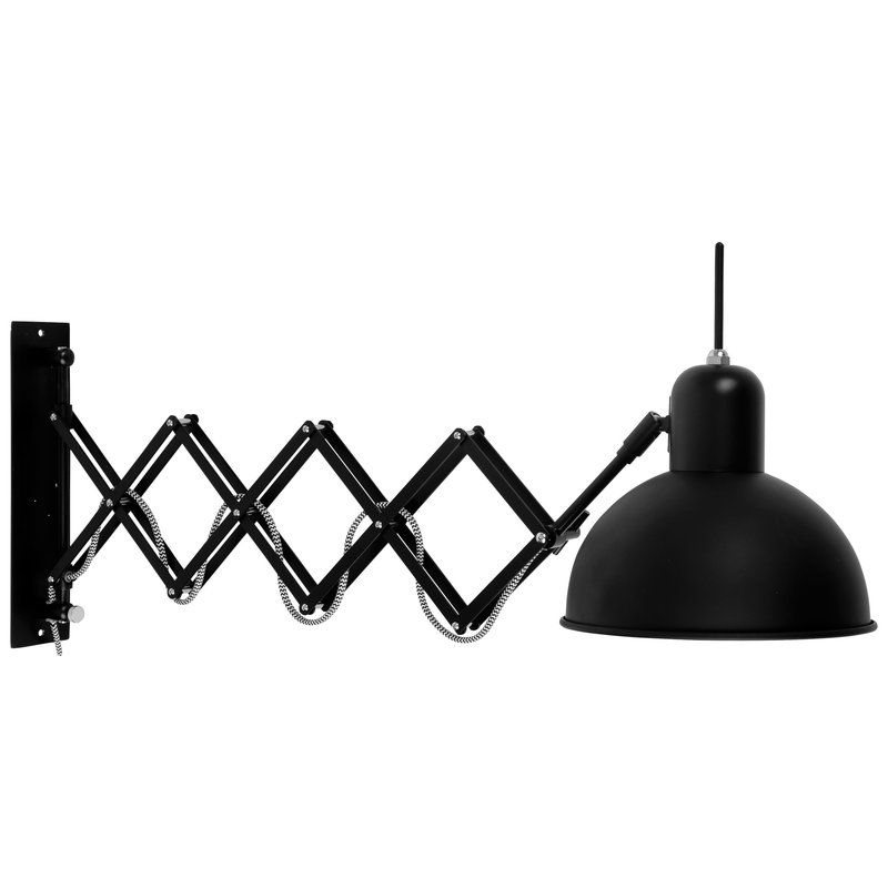 it's about RoMi-collectie Wall lamp iron/scissors Aberdeen, black