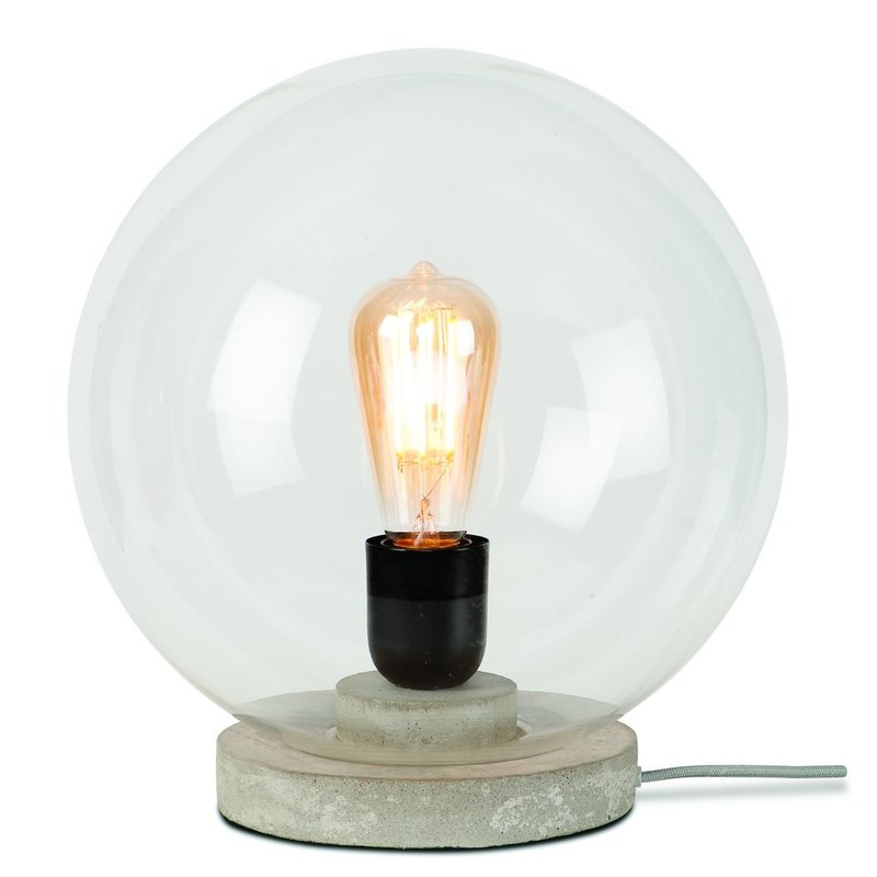 it's about RoMi-collectie Table lamp glass/globe Warsaw, transparant