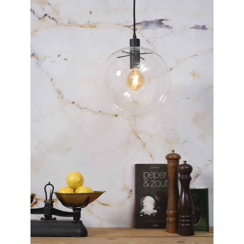 it's about RoMi-collectie Hanging lamp glass/globe Warsaw, transparant