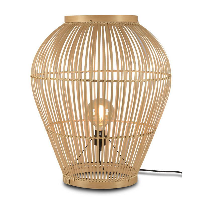 Good&Mojo-collectie Vloerlamp Tuvalu bamboe naturel, L