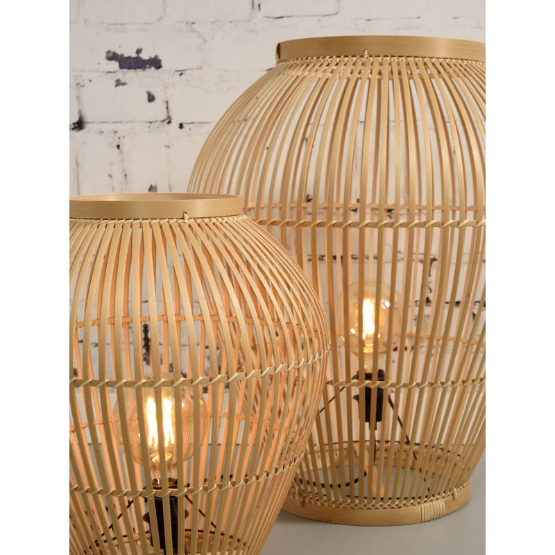 Good&Mojo-collectie Vloerlamp Tuvalu bamboe naturel, S