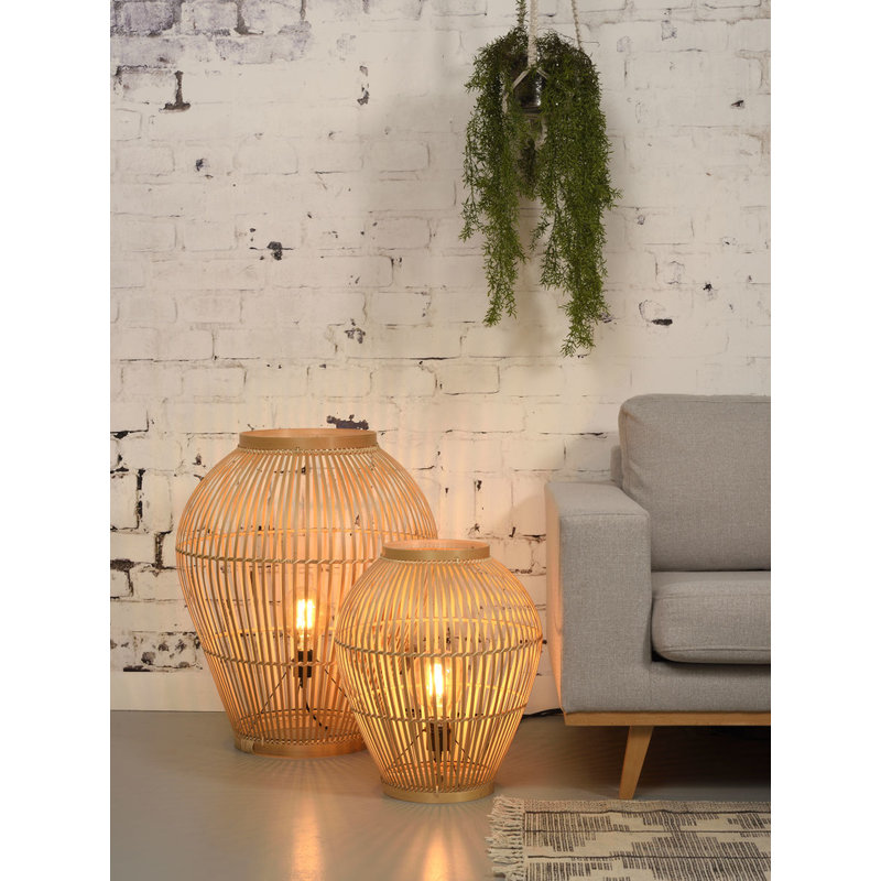 Good&Mojo-collectie Floor lamp Tuvalu bamboo natural, S