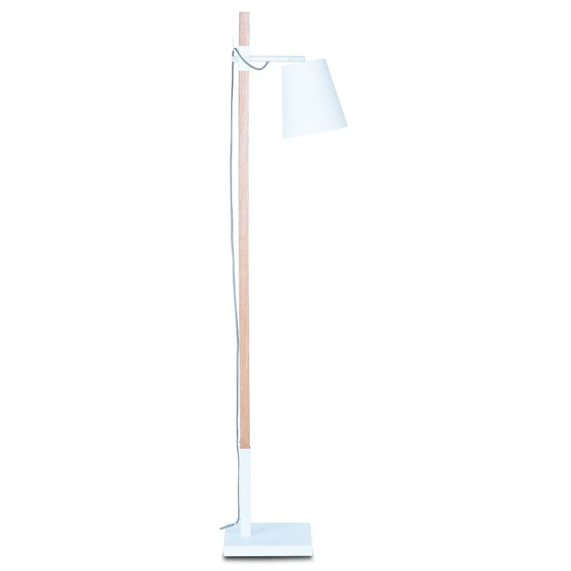 it's about RoMi-collectie Floor lamp iron/ash wood square Sydney, white/natural