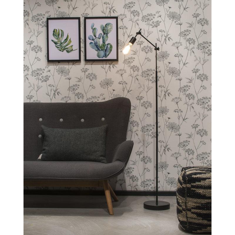 it's about RoMi-collectie Vloerlamp ijzer Sheffield verstelbaar, zwart