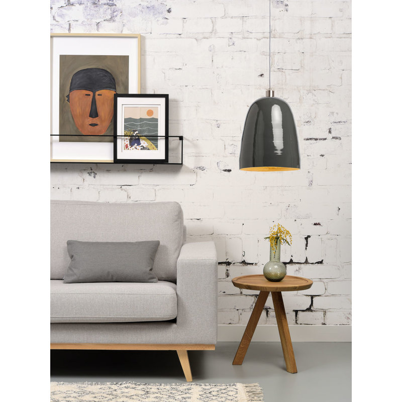 it's about RoMi-collectie Hanging lamp bamboo Saigon, grey
