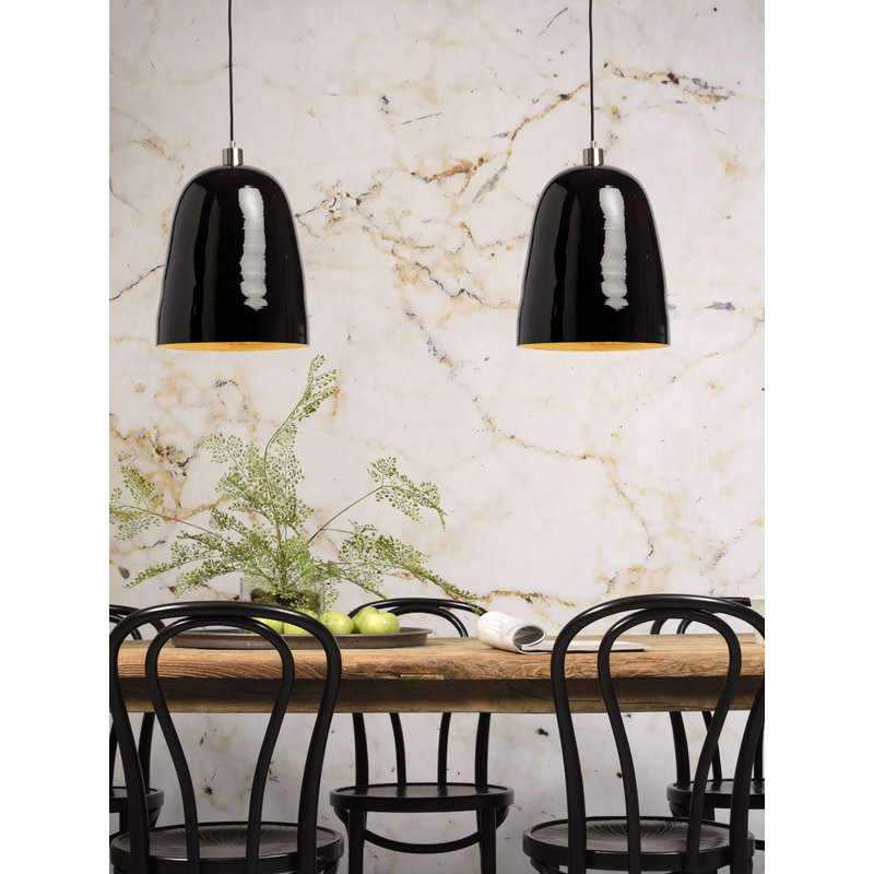 it's about RoMi-collectie Hanging lamp bamboo Saigon, black