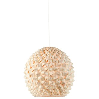 Good&Mojo Hanging lamp bamboo Sagano, globe natural