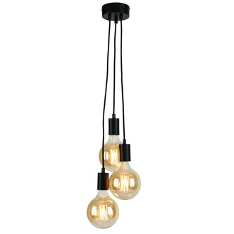 it's about RoMi Hanging system Oslo/3 lampen textile wire 150cm black