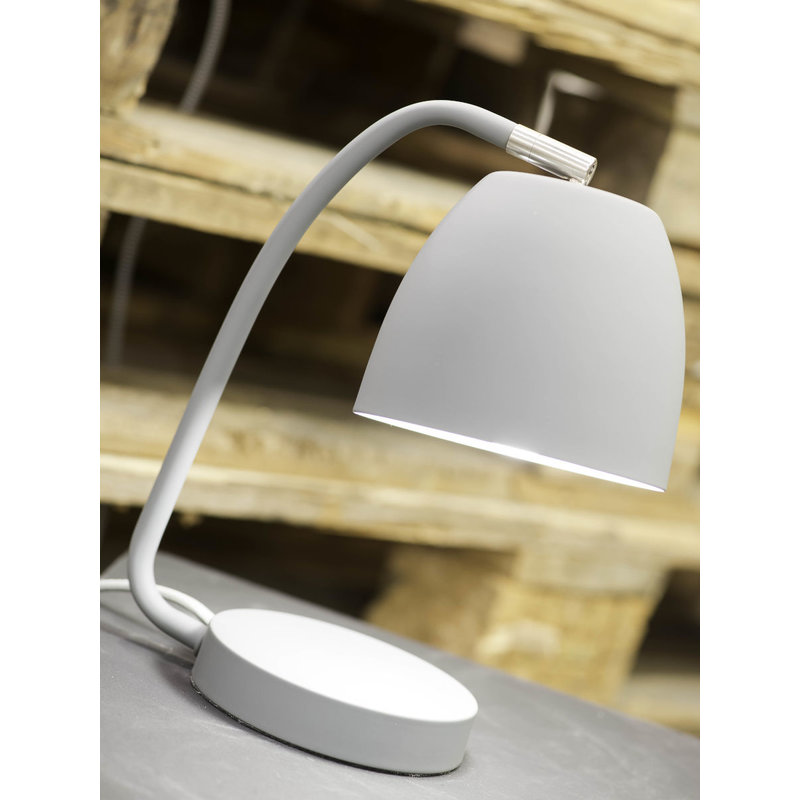 it's about RoMi-collectie Table lamp iron/rubber finish Newport, white