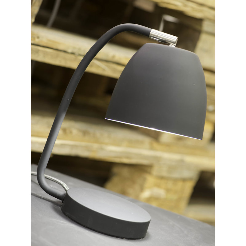 it's about RoMi-collectie Table lamp iron/rubber finish Newport, grey