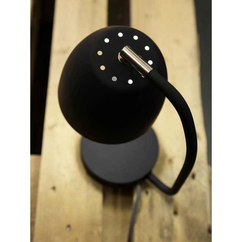 it's about RoMi-collectie Table lamp iron/rubber finish Newport, black