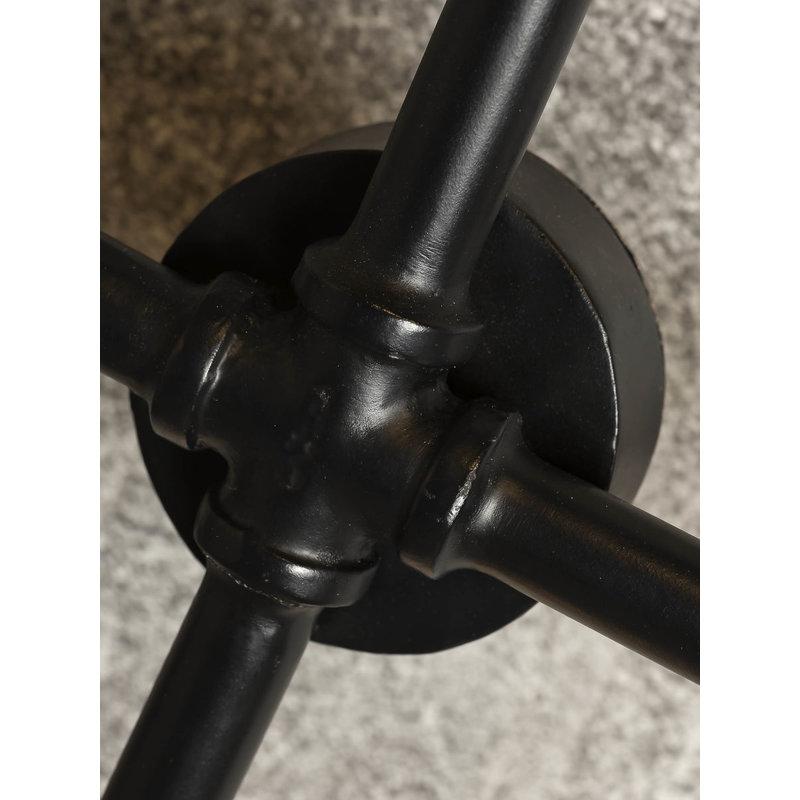 it's about RoMi-collectie Wandlamp ijzer Nashville 6-arm zwart